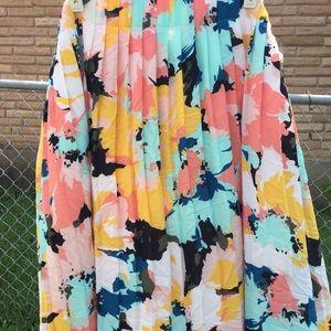 Ava & Viv Floral Midi Skirt